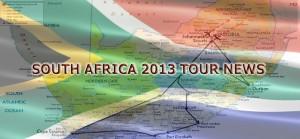 South Africa 2013 Tour News Header