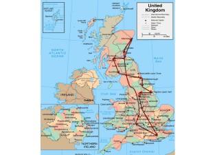 UK 2014 Tour Map