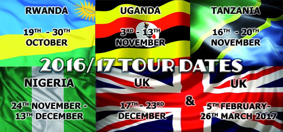 2016/17 Tour Dates