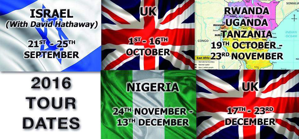 2016 Tour Dates